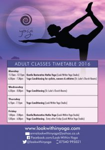 yoga adult class timetable